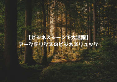 【ビジネスシーンで大活躍】アークテリクスのビジネスリュックおすすめ5選!